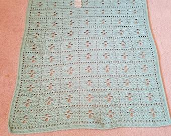 Green Rectangular Baby Blanket