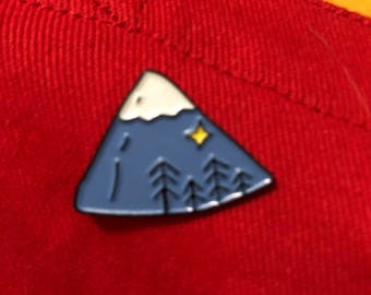Our Sublime Little Mountain Enamel Pin badge Lapel Pin Iceland Seattle Travel