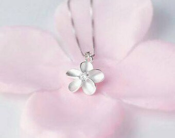Sterling silver Plumeria Necklace