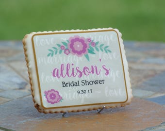 Personalized Bridal Shower Cookie Favors