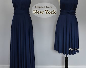 Navy infinity dress, convertible dress, Navy Blue Bridesmaid Dress, party dress, prom dress, multiway dress, long bridesmaid dress, Maxi