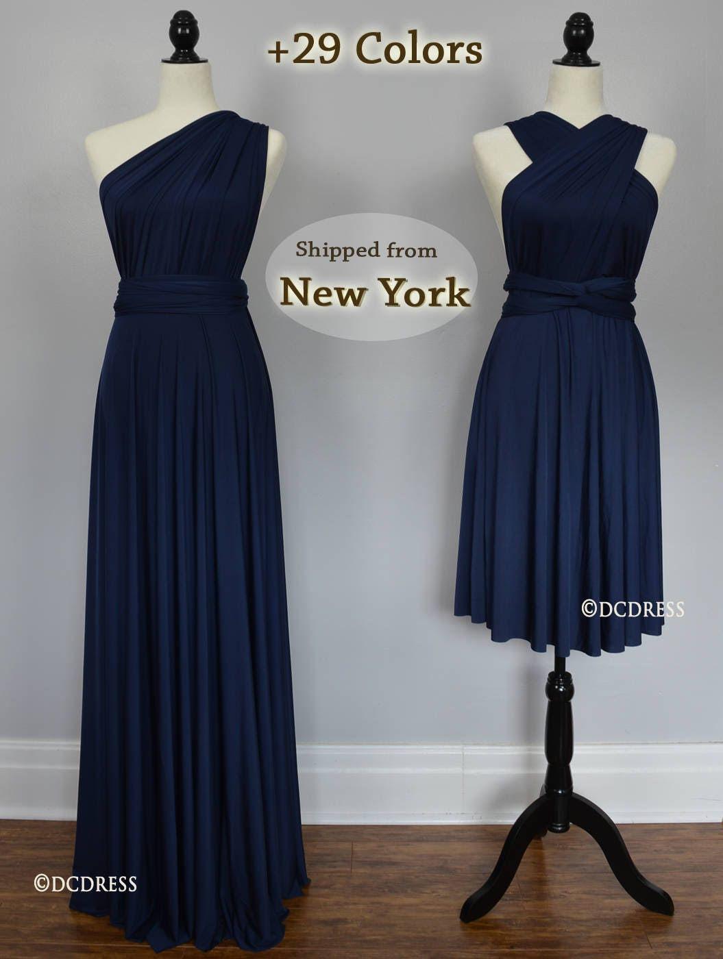Navy infinity dress convertible dress navy blue bridesmaid zoom ombrellifo Image collections
