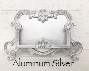 Aluminum Silver Ornate Office Business Card Holder , Pocket Card Holder , Silver Metal , Office Gift , Business Gift , Personalized Office