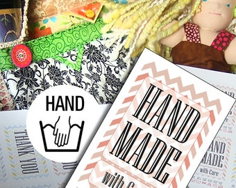 Laundry Tag Printables: Hand Wash for Handmade Items With Chevrons