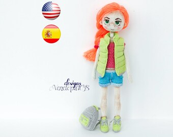 Pattern - (JUST CLOTHES) Doll Summer, amigurumi crochet doll, crochet doll pattern, amugurumi pattern, pdf pattern