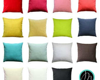 Solid Throw Pillow, Multiple Colors, Vibrant Pillow Cover, Zippered Pillow, Dyed Solid, Decorative Pillow, Accent Pillow, Cushion Cover