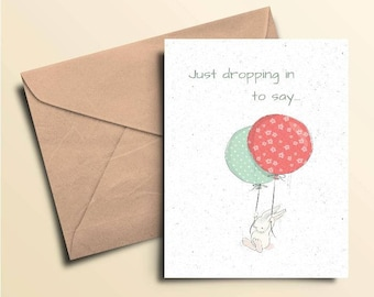Just Dropping In Birthday Card