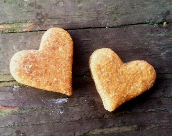 We're ALL HEART  Small Bag - Mango's Munchies Peanut Butter & Banana Dog Treats