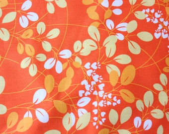 Simply Color Moda Fabric V and Co Orange Yellow Cotton Craft Quilt Leaves and Flowers Pattern Gorgeous Color Combination 1/2 Metre