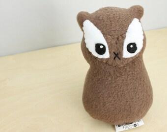 Chipmunk Plushie. Stuffed Animal, Woodland Softie, Small Plush Toy, Chipmunk Doll, Cute Fleece Plush, Stuffed Chipmunk, Ground Squirrel
