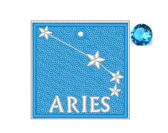 Aries Zodiac FSL Bookmark - Book Lovers Gift - FSL - Embroidery Design - Multiple Formats
