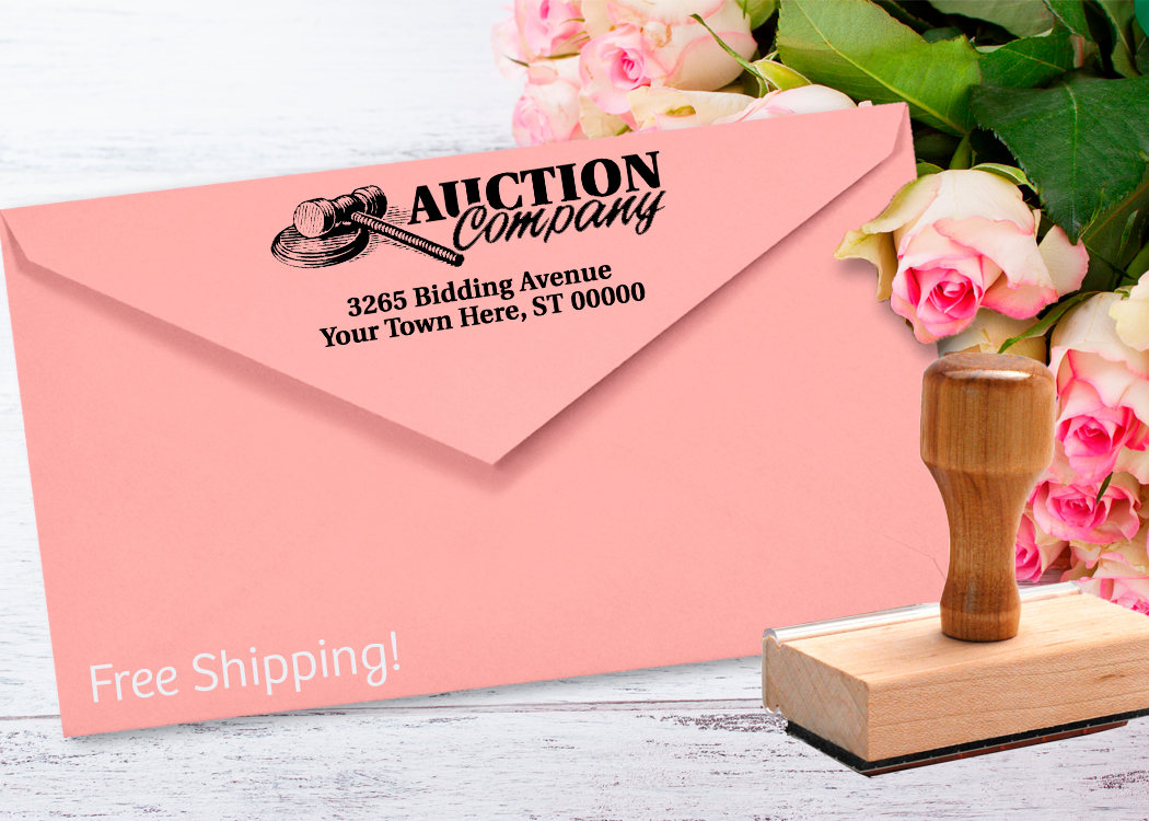 Auction Gavel Return Address Stamp Perfect for Any Day Gift