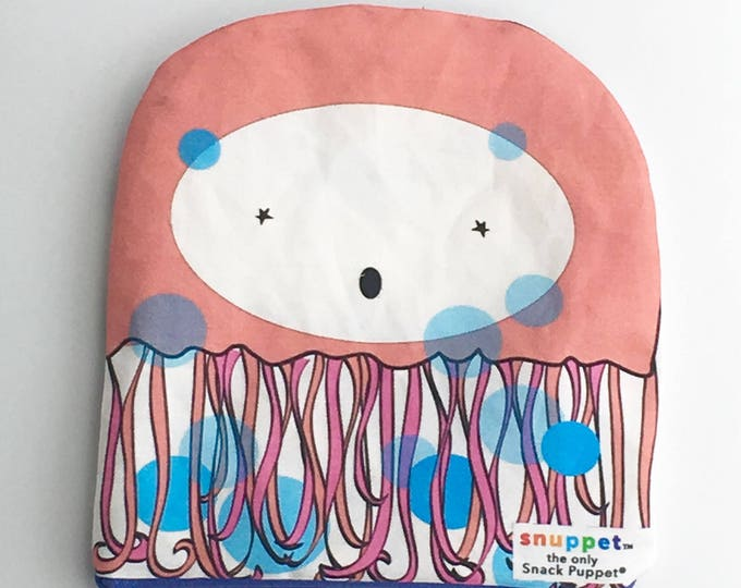 Reusable Lined Zipper Bag- Jellyfish (FREE SHIPPING)