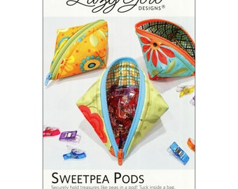 Sweetpea Pods Pattern by Lazy Girl Designs.  Zippered pouch