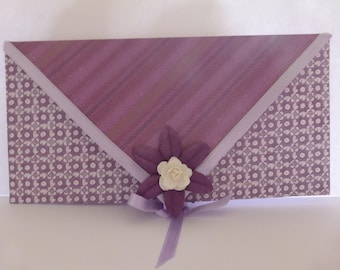 Violet example envelope for card or check