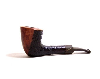 Vintage Savinelli Autograph No. 4 Smoking Pipe - Vulcanite Stem - Made In Italy