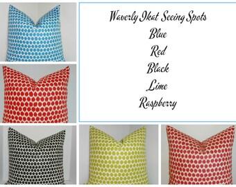 Decorative Pillow Throw Pillow Waverly Jazzberry Blue Noir Ikat Accent Pillow 5 Colors Choose Size