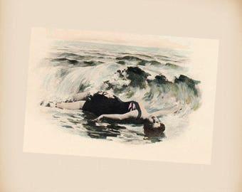 Bathing Beauty New 4x6 Vintage Postcard Image Photo Print BB15