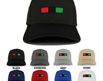 Africa Red Black Green Embroidered Iron on Patch Adjustable Baseball Cap  (27-079-AFRICA-30)
