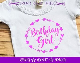 Birthday Girl SVG Cut File, Happy Birthday SVG, Birthday Princess SVG, Birthday Girl, Svg Cutting File, Birthday Party Svg, Birthday Svg