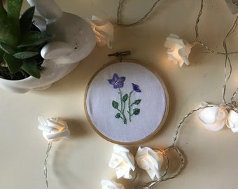 Dog Violet Hand Embroidery in a Hoop