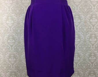 Vintage Jo Hardin A Line Skirt Womens Purple Sz 8