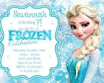 Elsa Frozen Birthday Invitation - PRINTABLE
