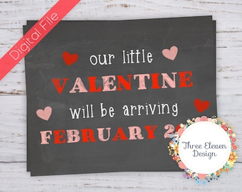 Due with Valentine Printable Chalkboard Sign