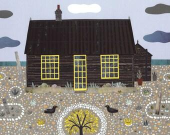 Derek Jarman, Greeting Card, Prospect Cottage, Illustration, Art Card, Sea, Britain, Beach, Cottage, Gay Rights, Garden, Amanda White Design