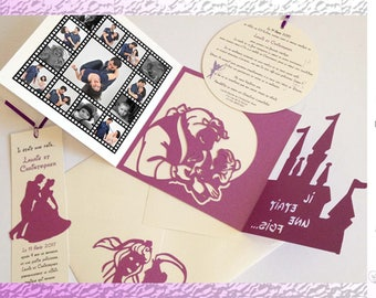 Announcement - Fairytale Theme - wedding - hand-made Creation, personalization as you wish
