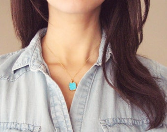Turquoise Necklace | Turquoise and Gold Necklace