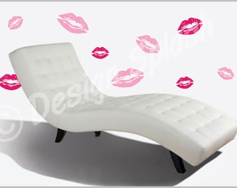 Vinyl Decal KISSY LIPS Wall Art Decals S-119