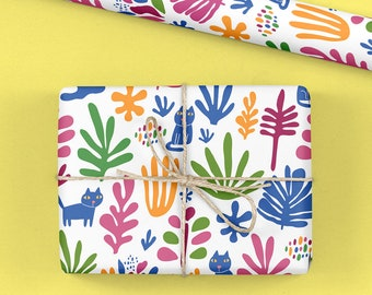 Cats and Succulent Giftwrap