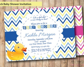 Rubber duck invite Etsy