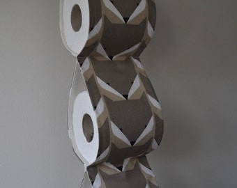 Practical decorative wall Toilet paper Holder storage with brown foxes / For 2 or 3 rolls / Bathroom decor/ Housewarming