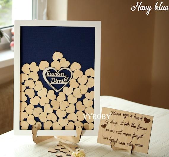 Guest book alternative ideas Drop box wedding guest book frame