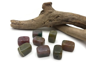 Natural agate beads Cube - set of 4/8 - Pierre of gemstone - semi precious stone beads - rectangle beads - stone natural A070 1