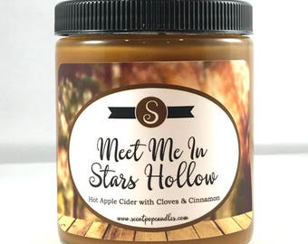 Meet Me In Stars Hollow, Gilmore Girls Inspired Soy Candle