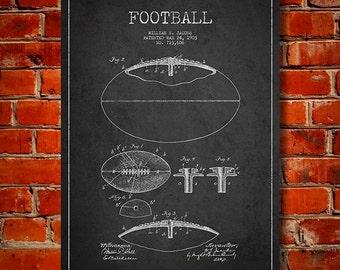1903 Football Patent, Canvas Print,  Wall Art, Home Decor, Gift Idea