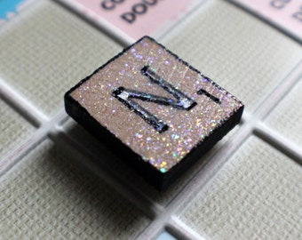 Magnet for refrigerator Scrabble hand painted