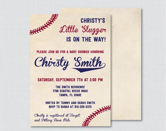 Baseball baby shower invitation baseball boy baby shower baseball baby shower invitation printable or printed vintage baseball baby shower invites boy baby filmwisefo Images
