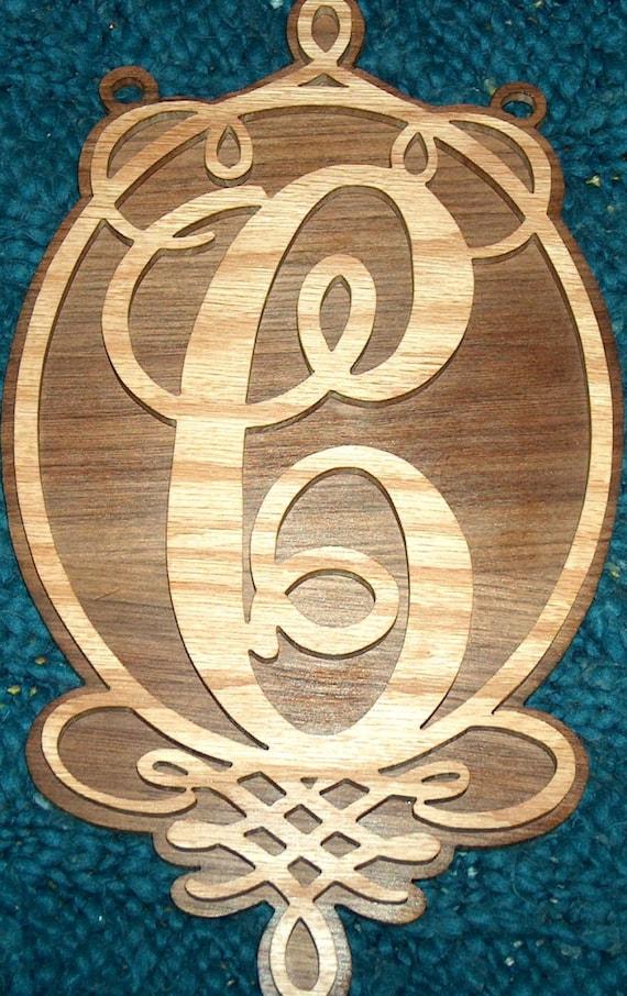 Modern Wooden Monogram Wall Decor Gift - Wall Art Design ...