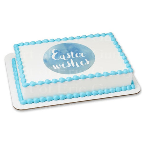 Pastel Easter Wishes - Edible Cake and Cupcake Topper For Birthday's and Parties! - D22046