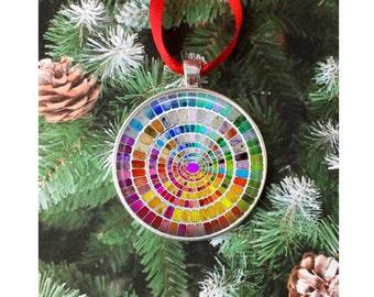 Artist Ornament - 2 inch Painter Palette Ornament  Artist Create Ornament -Gift for Artist gift for art student - gift for watercolor artist