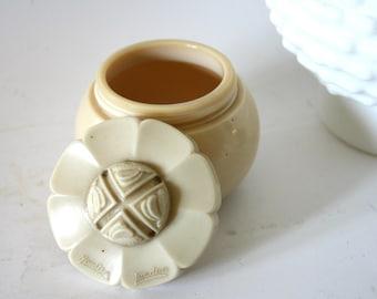 Vintage Yardley Vanity Jar Repurposed Ivory Glass Keepsake Cremation Urn