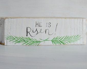 Easter Decor He is Risen, He Has Risen Easter Decor, Resurrection Decor, Palm Branch
