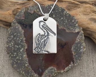 Pelican Fine Silver Pendant