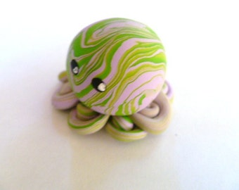 Awesome Little Octopus in Lavender and Lime Swirl