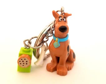 Scooby-Doo® Inspired Keychain With Scooby Snacks® & Bone - Fan Art Crafted From LEGO® Elements
