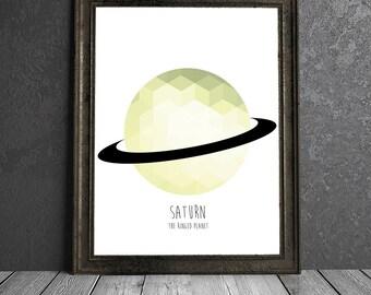 Saturn - The Ringed Planet - 8x10 DIGITAL PRINTABLE PDF